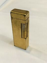 Vintage 1960's Dunhill Gold Plated Rollagas Cigarette Lighter Us Patent Re24153