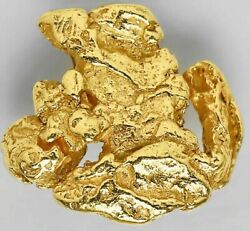 Crystalline Gold Nugget Specimen Wonderful - Alaska - 0.1978g And039year Of The Ratand039