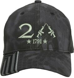 Only 2nd Amendment 1791 Guns Embroidered One Size Fits All Baseball Hats $19.99
