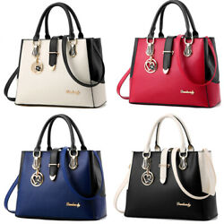 Women#x27;s PU Leather Handbag Assorted Color Satchel Tote Shoulder Bag Hobo Bags $22.99