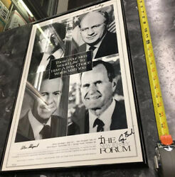 The New Jersey Forum Signed George Bush Dick Cheney Alan Shepard Henry Kissinger