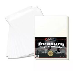 10 25 50 100 250 Bcw Premade Comic Book Treasury Bags And Boards