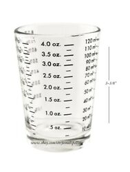 4 oz. Bar amp; Kitchen PROFESSIONAL MEASURING GLASS Jigger Shot Multiple Scale $10.99