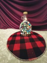 1940's Old Marbles In Vintage Vermony Maple Syrup Jug 125+...