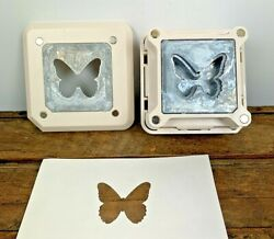Lg Martha Stewart Square Magnetic Paper Press Punch Retired - Butterfly