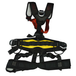 Outdoor Full Body Safety Rock Climbing Tree Rappelling Harness Seat Belt Protect