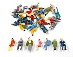 100 Pcs 150 Scale O Gauge All Seated People Sitting Figures Model Train Layout