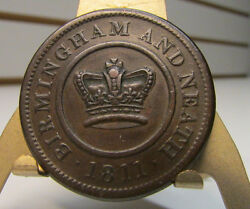 1811 Birmingham And Neath Crown Copper Company One Penny Token