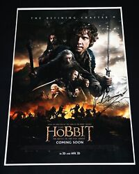 Peter Jackson Hand Signed The Hobbit 12x18 Movie Poster + Exact Proof Photo