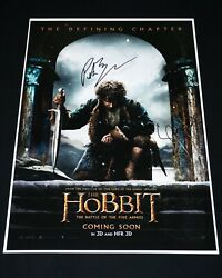 Peter Jackson And Lee Pace Hand Signed The Hobbit 12x18 Movie Poster + Proof Photo