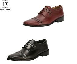 Libertyzeno Men's Handmade Derby Style Dress Shoes In Black And Brown Colors-1083