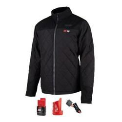 3XL Milwaukee M12 Cordless Axis Black Heated Quilted Jacket Kit NEW IN BOX