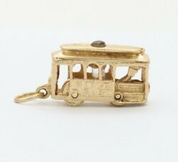 Vintage 14k Gold Stanhope Articulated Trolley Cable Car San Francisco Charm