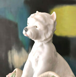 LLADRO Porcelain Playful Character Terrier Dog #8207 w Box Retired Style 1980s