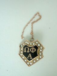 Usa Fraternity Pin Omega Phi Alpha. Made In Gold 14k. 523