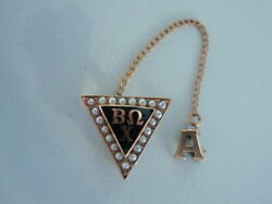 Usa Fraternity Pin Phi Beta Omega Chi. Alpha Chapter. Made In Gold. 451