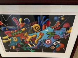 Yankel Ginzburg Signed Framed Serigraph 1984 Life In The Fast Lane With Certs