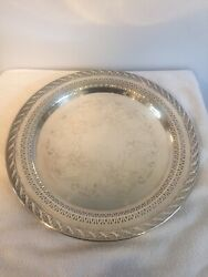 Wm Rogers And Son Spring Flower Tray