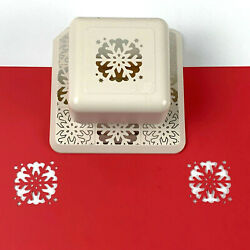 Martha Stewart Magnetic Punch Scallop Snowflake All Over The Page Winter Holiday