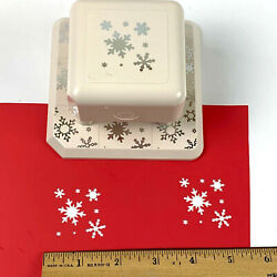 Martha Stewart Magnetic Punch Aspen Flurry All Over The Page Winter Snowflakes