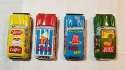 Rare Vintage 1950s 4 Different Tin Friction Cars Made In Japan Tn Nomura Company