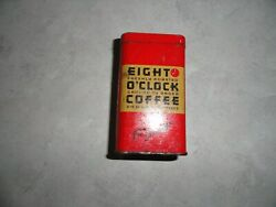 Aandp Grocery Store Eight O'clock Coffee Antique Advertising Tin Coin Bank Promo
