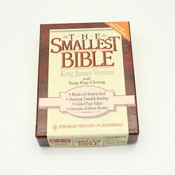 The Smallest Bible King James Version 1970 By Thomas Nelson Snap Flap Close Rare