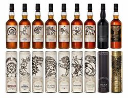 Game Of Thrones - All 9 Bottles In The Complete Set Whisky 70cl X 9