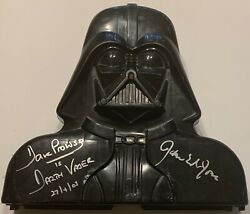 Rare Darth Vader Full Carry Case Signed By James Earl Jones And Dave Prowse W/toys