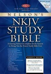 Nelson's Study Bible New King James Version, Black Bonded Leather, Thumb Inde..