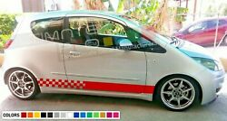 Decal Sticker Stripe For Mitsubishi Colt Czt Springs Carbon Low Tune Chrome Gear