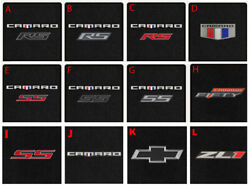 New Carpet Floor Mats 2016-2022 Chevy Camaro Embroidered Logo On All 4 Mats