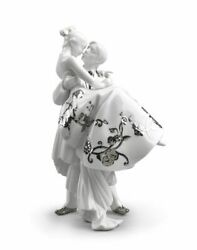 Lladro The Happiest Day Couple. Figurine Silver Luster 01007055
