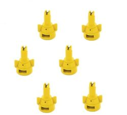 Pack Of 6 - Teejet Air Induction Flat Spray Tips Yellow 110anddeg Polymer Visiflo