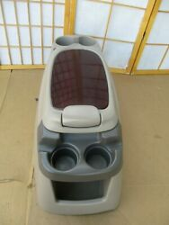99-07 Ford F250 F350 Excursion Center 4 Cup Drink Holder Console Tan And Cherry