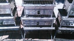 Turkish Stainless Chrome Grill Bbq Grooved Grid Charcoal Barbecue Picnic Kebap