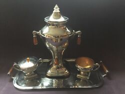 Vintage Manning Bowman Electric Coffee Service 4 Pieces