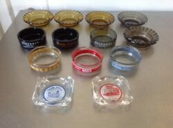 Lot Of 13 Collectible Vintage Ashtrays Las Vegas Casino / Hotels