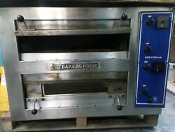 Bakers Pride Ep-2-2828 Twin Deck 3 Phase Pizza Oven Includes The Stainless Stand