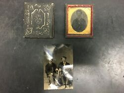 Vintage Tin Types Photography 2 In Cases One Out Of Case War Civil War