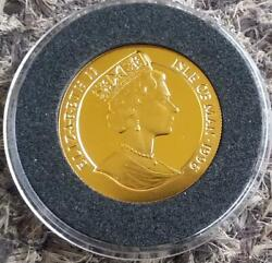 1996 Isle Of Man Year Of The Rat 1/5 Crown .999 Gold Proof Km 730 Extra Rare