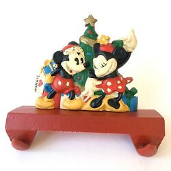 Midwest Of Cannon Falls Mickey Minnie Cast Iron Double Stocking Hanger Christmas