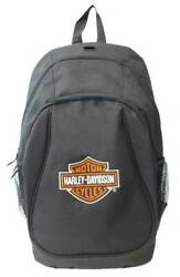 Harley-Davidson Embroidered Bar & Shield Logo Backpack Black XBP1500-BLACK