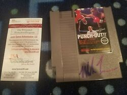 Mike Tyson Signed Autographed Nintendo Nes Game Punch-out Jsa Authentic