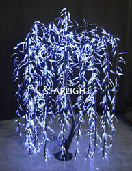Outdoor White 6ft/1.8m Led Willow Tree Night Light Home Party Wedding Decor Ip44