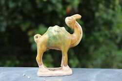 Genuine Tang Dynasty Unearthed Sancai Ware - Camel Carries 2 Lion Heads China