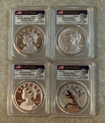 2017 225th Anniversary American Liberty Medals Set All Pcgs 70's Perfect Gems