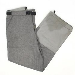 Lithium Manufacturing Co Mens Hiking Pants 34x32 Gray Wool Blend Thick Flannel  $79.99