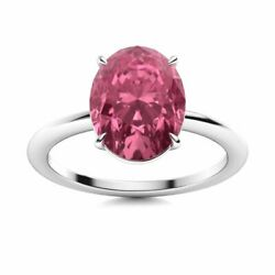 14k White Gold 2.02 Carat Natural Pink Tourmaline Solitaire Womenand039s Ring