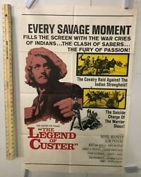 Vintage Movie Poster 1968 The Legend Of Custer 20th Century Fox 27x41 One Sheet